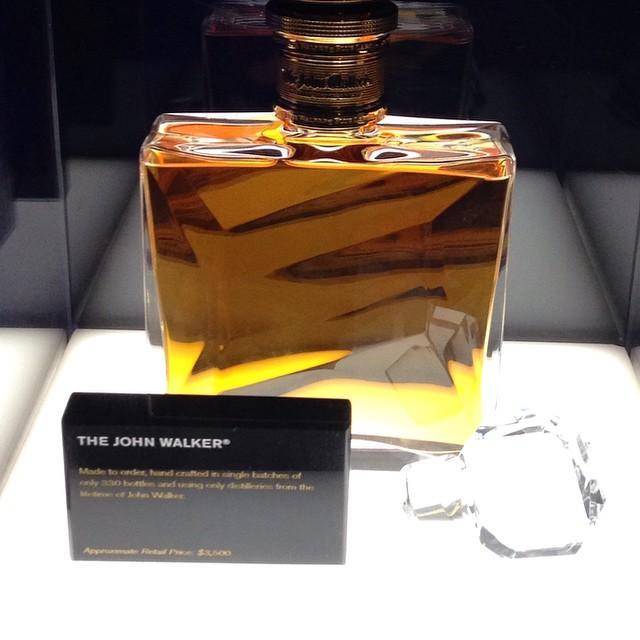 The #johnwalker #johnniewalker retails at $3500 & made in single batches of only 330 bottles @johnniewalker