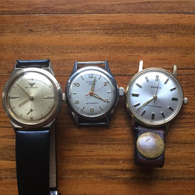 You never know your luck in a small town! Found these gems in the least likeliest of places! @wittnauer @benrusus #benruswatch #benrus #wittnauer #wittnauerwatch #austin #antiques #militarywatch #dumont #ugwc