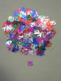 Party Deco 04075 10mm Multi 75 Confetti - Pack of 12