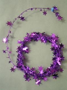 Party Deco 04510 18 ft. Purple Star Wire Garland - Pack of 12