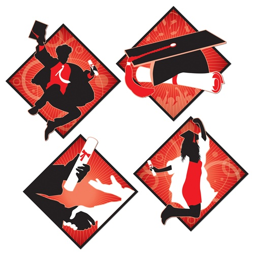 "Beistle 54499 16"" Graduation Cutouts Pack of 12"